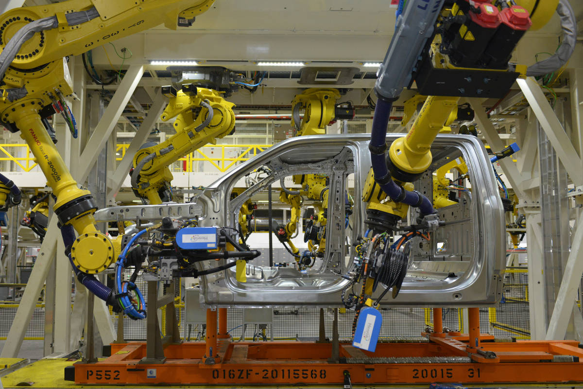 A highly automated Ford truck plant in Dearborn, MI.