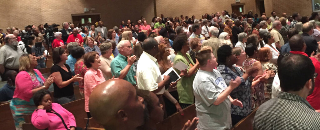 More than a thousand people gathered for the Moral Revival in Birmingham, AL
