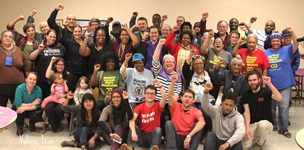 The Poor People's Campaign Midwest Tour in Detroit for a People's Tribunal on poverty.