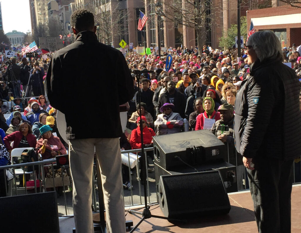 The view from the stage at the 2017 Moral March on Raleigh