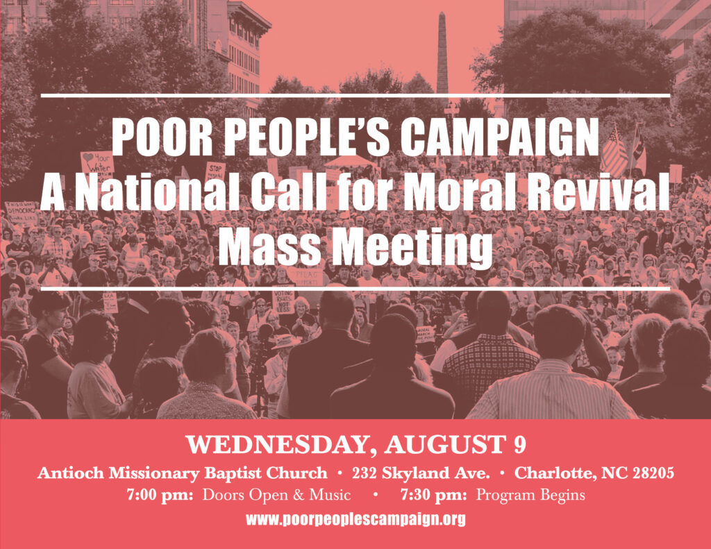 Charlotte, NC Poor People's Campaign Mass Meeting